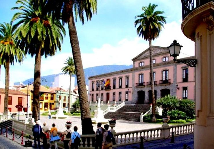 Charming town hall of La Orotava