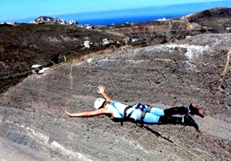 Gran Canaria bungee jumping - free fall
