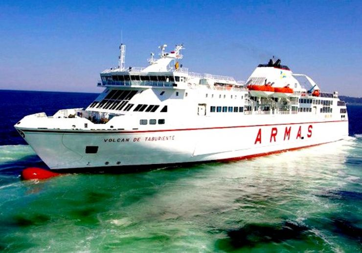 Ferry crossing to La Gomera on Naviera Armas