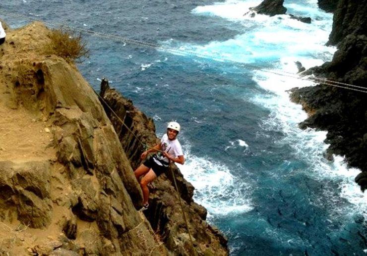 multi adventure abseiling in Gran Canaria