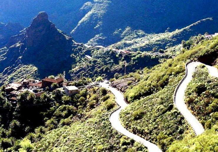 Masca gorge with stunning landscape