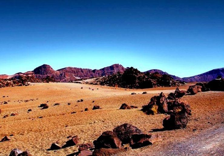 Drastic and rugged landscape on Teide National Park