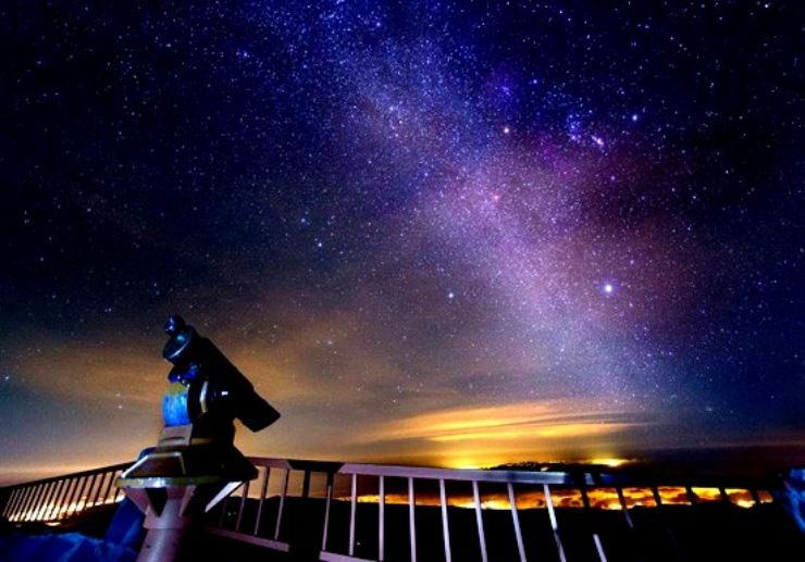 Observing milky way from Teide