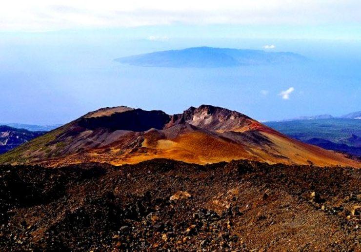 View of Pico Viejo in La Gomera