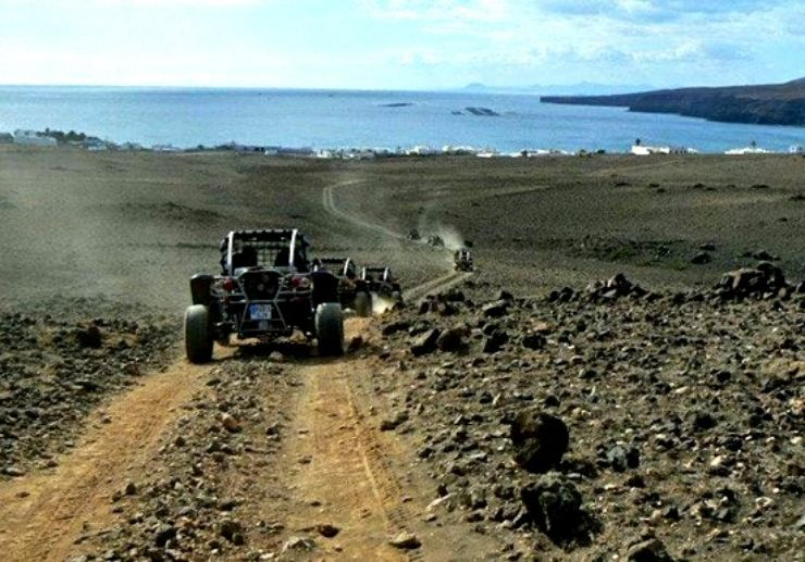 Buggy tour on dirt roads of Lanzarote