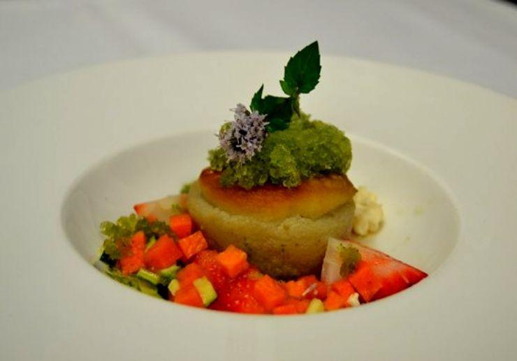 Canarian cuisine served at La Granja Verde