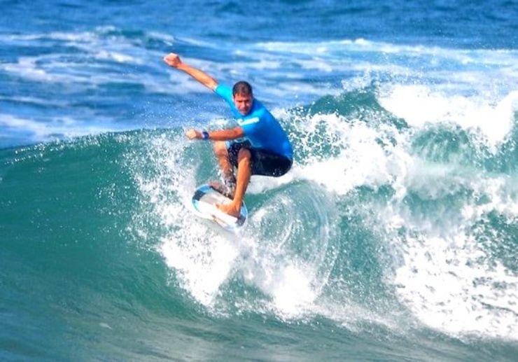 Surfing in Caleta de Fusta Fuerteventura