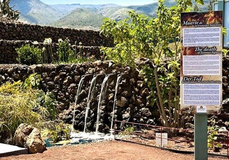 Botanical garden at Pirámides de Güímar Tenerife