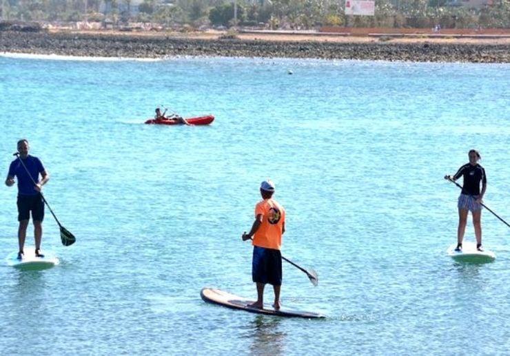 Fuerteventura stand up paddle lessons in Caleta de Fuste