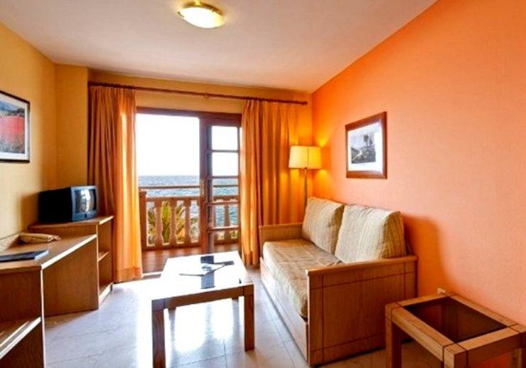 Hotel Elba Castillo apartment living area for surf camp