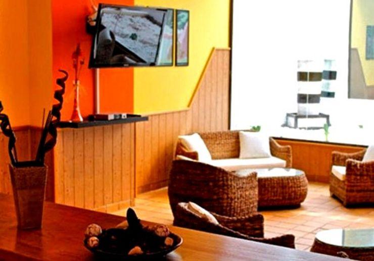 Hotel La Casita living area for surf camp