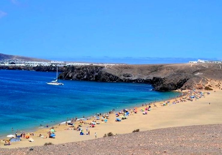 Catamaran sailing Papagayo beach Lanzarote