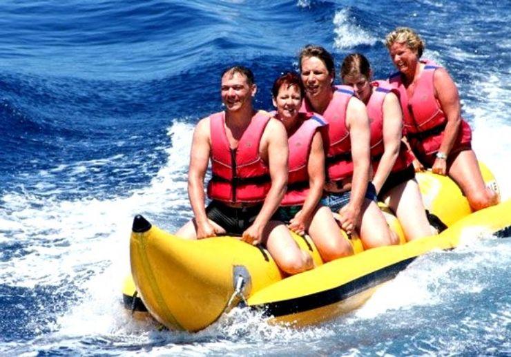 Ride a Banana boat while sailing in La Palma
