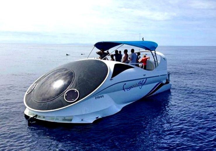 Boat Excursion on Hydrofoil futuristic Fantasy