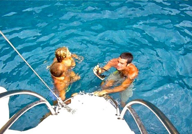 Snorkelling in Tenerife catamaran cruising