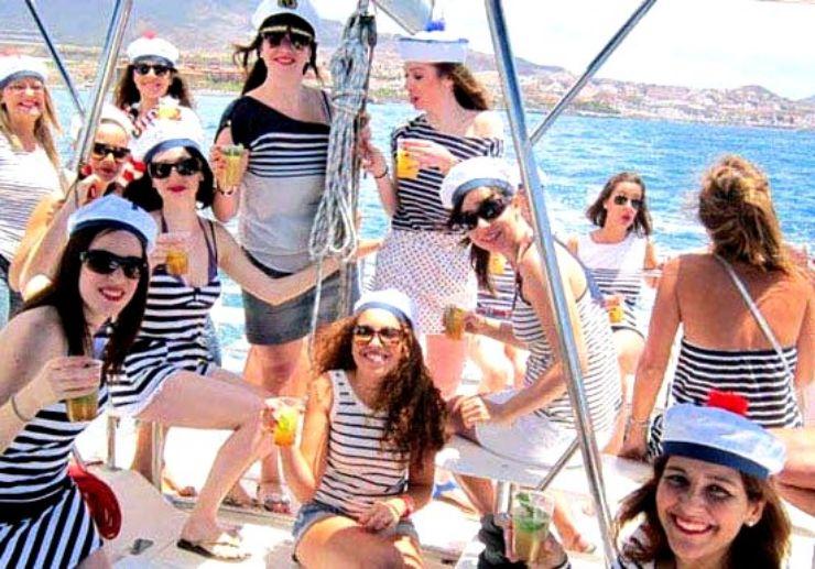Hens party on private catamaran Tenerife