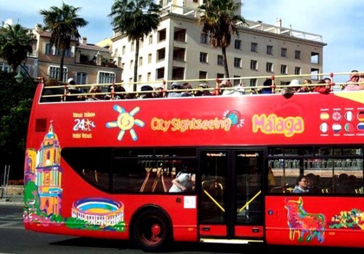 Hop on hop off double-decker bus tour Malaga