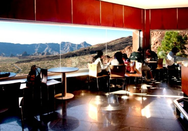 Cafe at Teide cable car station with stunning views