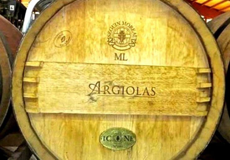 Wine barrels in Dolianova