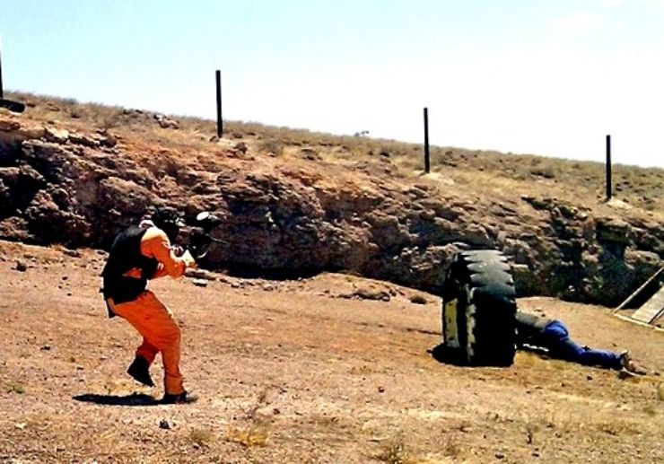 Play paintball in Lanzarote