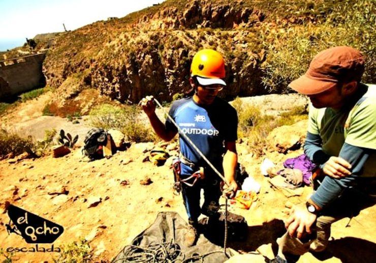 Climbing beginner course in Tenerife