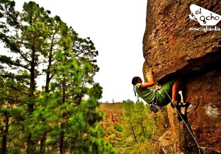Beginner rock climbing in Tenerife