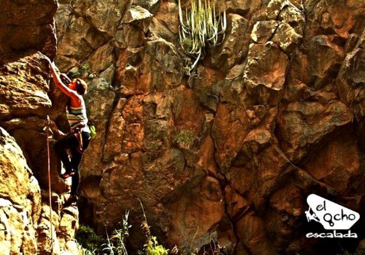 Rock climbing course in Tenerife