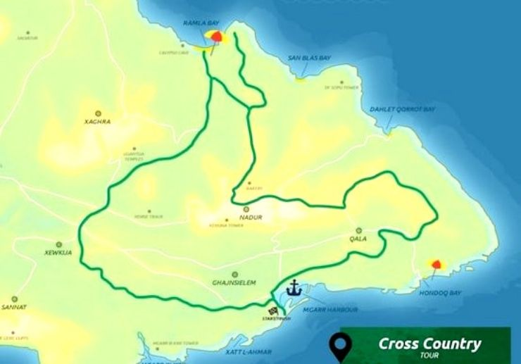 Segway cross country tour in Gozo route map