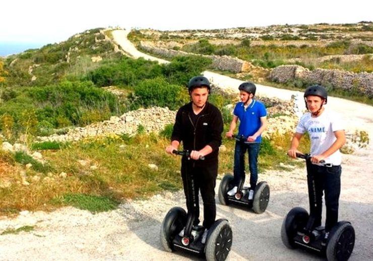 Discover terrain of Gozo island on segway