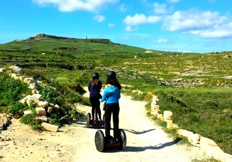 Impressive scenery on Gozo segway tour