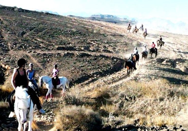 Horse riding dirt tracks in Maspalomas