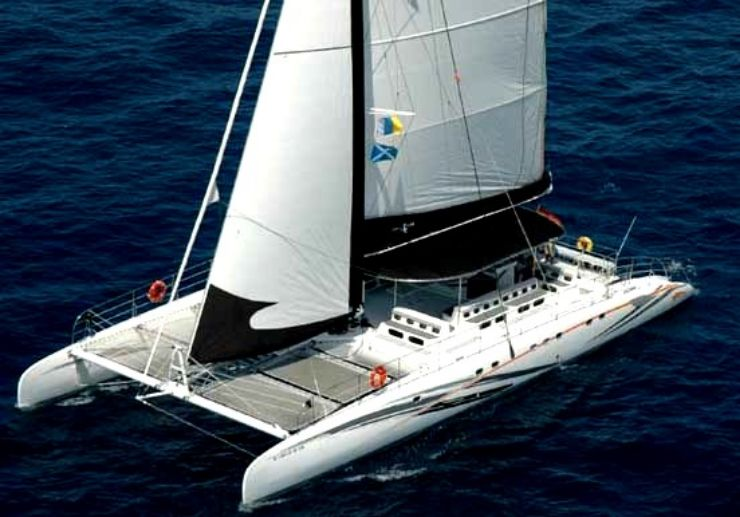 Freebird catamaran sailing in Tenerife