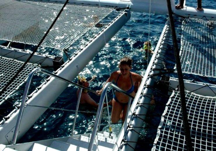 Tenerife catamaran sailing with swimming and snorkelling