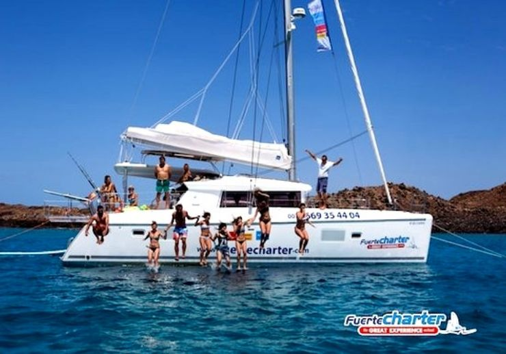 Catamaran sailing Corralejo to Lobos island
