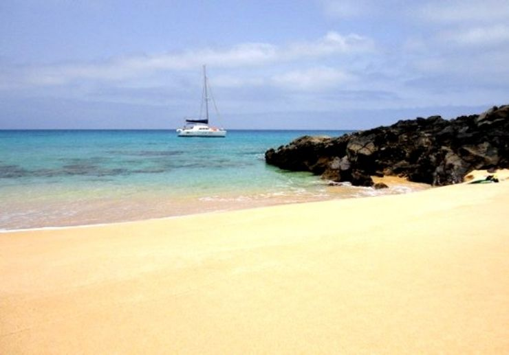 Catamaran private sailing La Concha beach