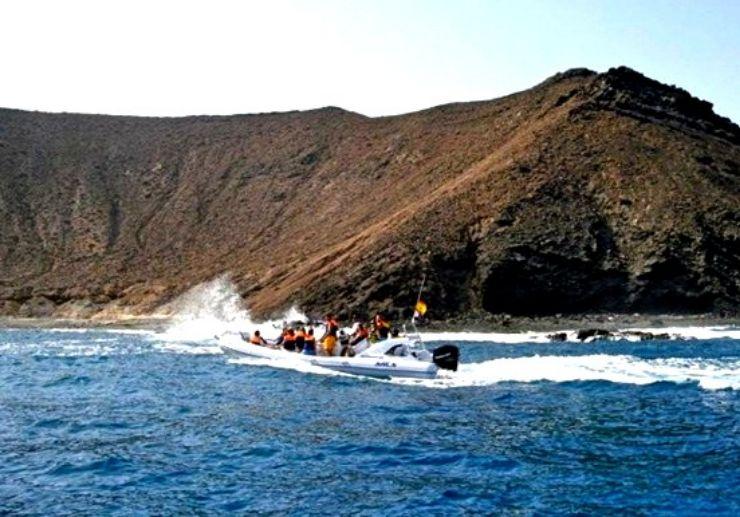 Private speedboat tour around Lobos Island