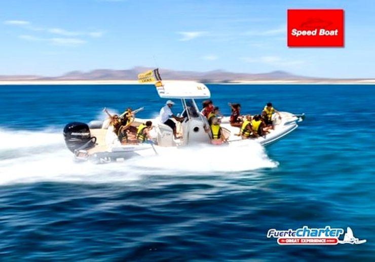 Speed boat to Isla de los Lobos