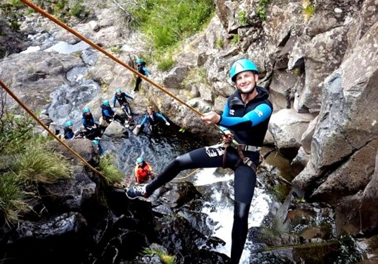 Abseiling for Madeira canyoning adventure