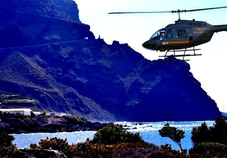 helicopter tour over Isla Baja Tenerife