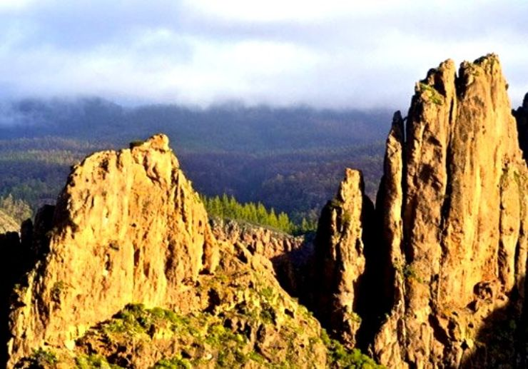 Helicopter tour over Tenerife landscapes