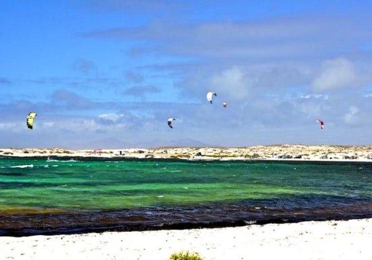 White fine sand beaches of Fuerteventura