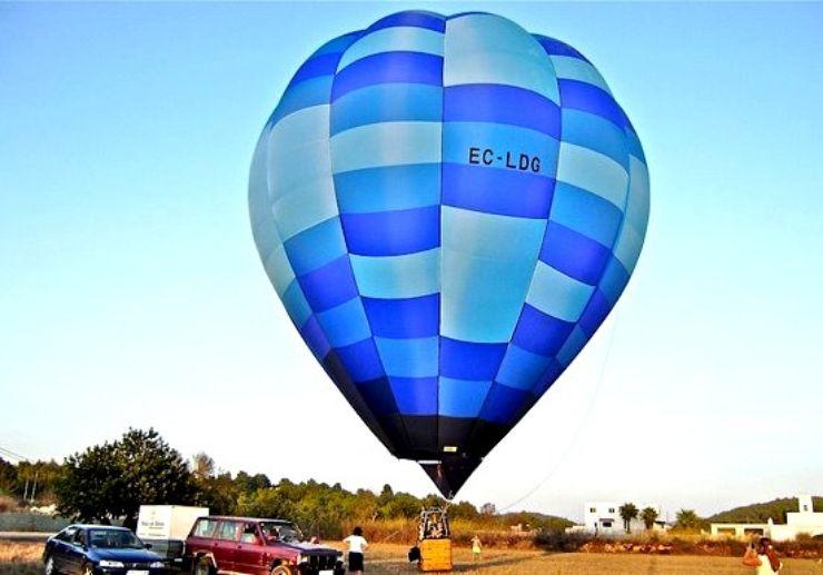 hot air balloon ride in Ibiza