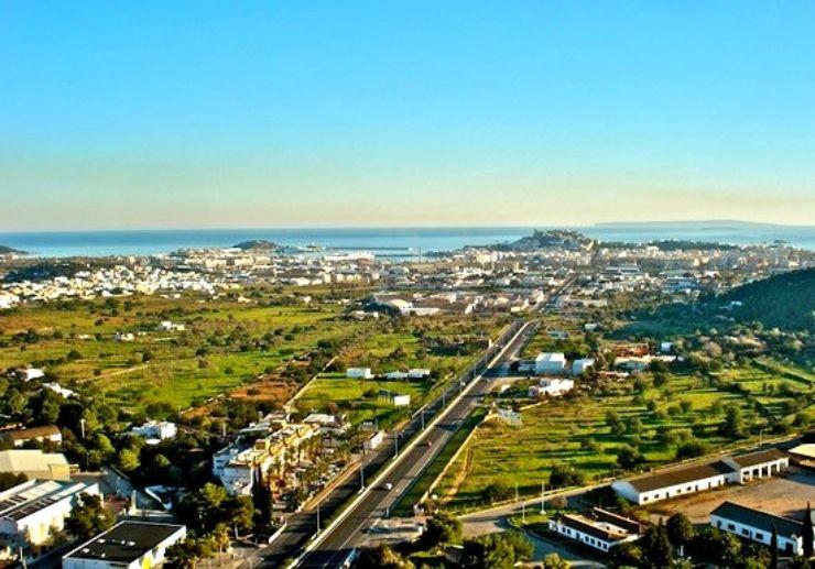 Ibiza view from hot air balloon