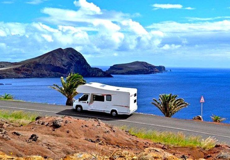 Explore Madeira coast on a campervan