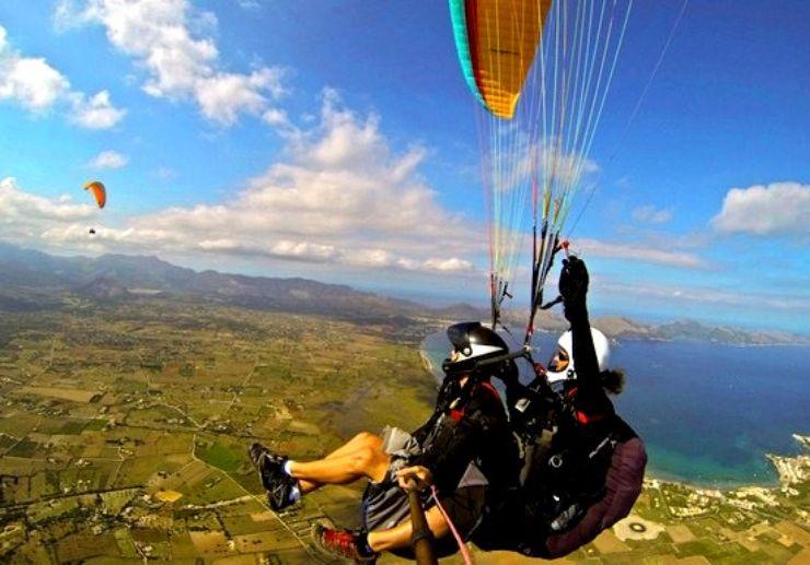 Tandem paragliding in Mallorca