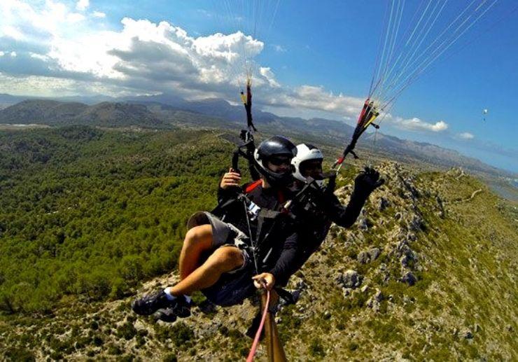 Paragliding in Mallorca scenic view