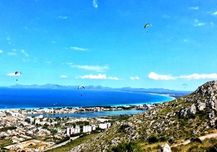 Paragliding in Mallorca with amazing view