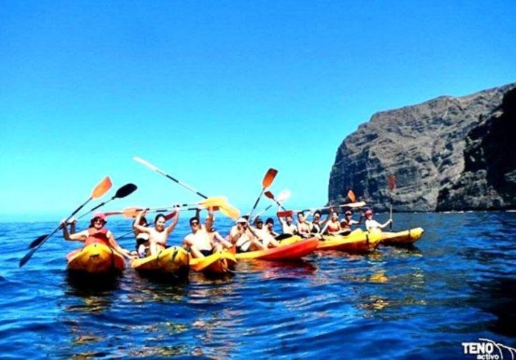 Sea kayaking tour in Los Gigantes