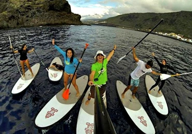 Stand up paddle adventure in Los Gigantes
