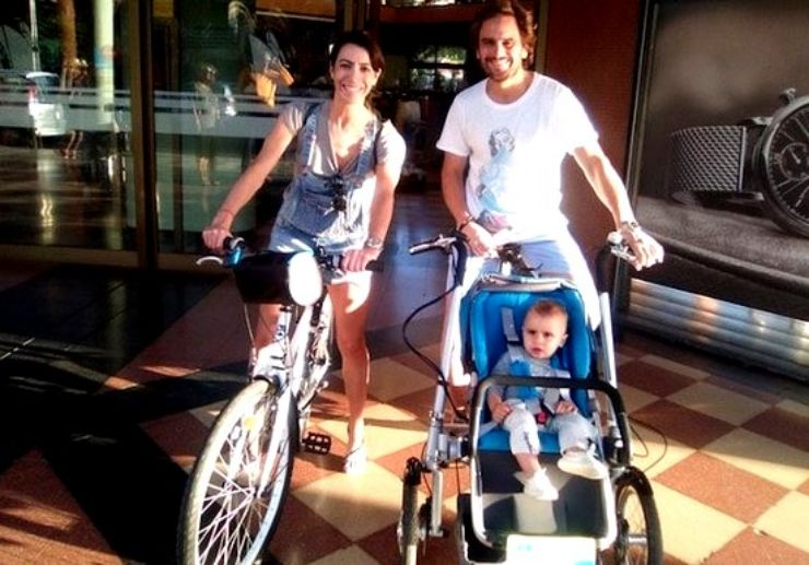 Rent e-bike and baby stroller tricycle Maspalomas